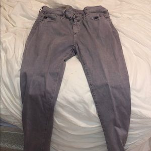 Cute light purple suede jeans from anthropology